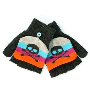Convertible Mittens Fingerless Gloves Girls Womens
